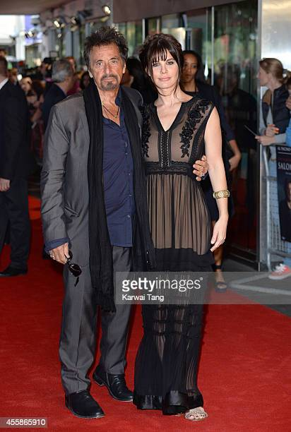 Al Pacino and Lucila Sola attend a screening of 'Salome and Wilde Salome' at BFI Southbank on September 21 2014 in London England