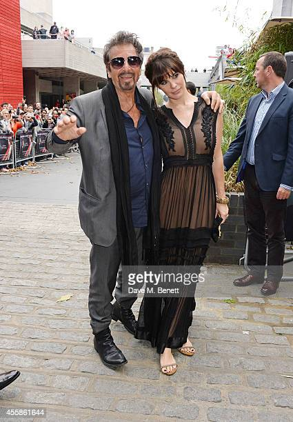 Al Pacino and Lucila Sola attend a VIP screening of Salome and Wilde Salome at the BFI Southbank on September 21 2014 in London England
