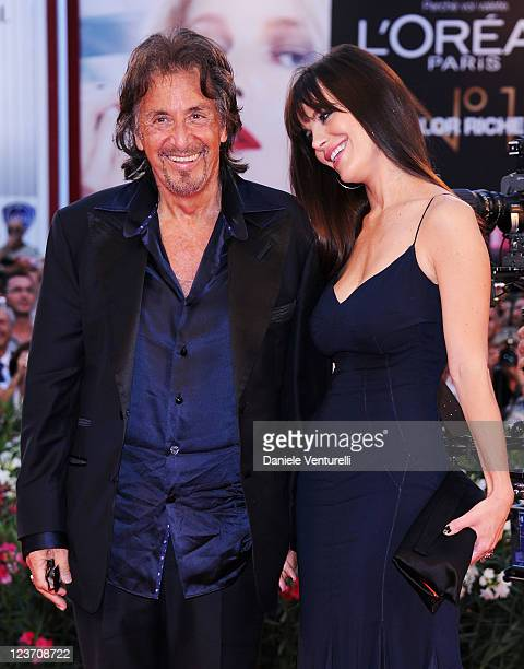 Al Pacino and Lucila Sola attend the JaegerLeCoultre Glory To The Filmmaker Award Ceremony and Wild Salome premiere during the 68th Venice...