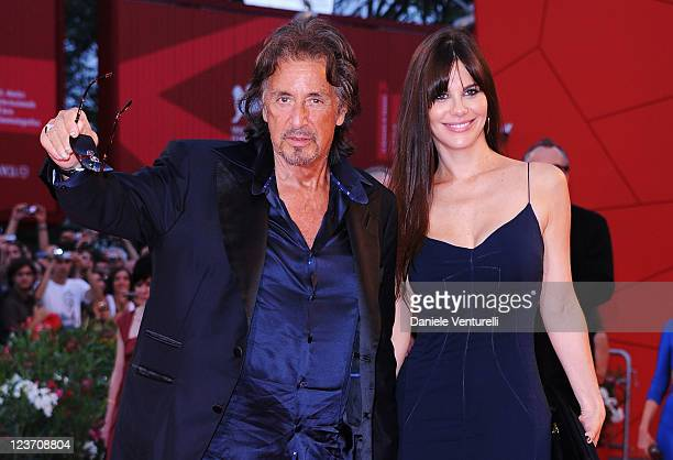 Al Pacino and Lucila Sola attend the JaegerLeCoultre Glory To The Filmmaker Award Ceremony and 'Wild Salome' premiere during the 68th Venice...