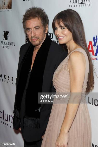 Al Pacino and Lucila Sola attend the 'Stand Up Guys' premiere during the opening night of the 48th Chicago International Film Festival at the Harris...
