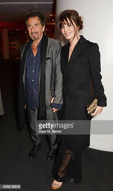 Al Pacino and Lucila Sola attends an after party following the screening and QA of 'Salome and Wilde Salome' at the BFI Southbank on September 21...