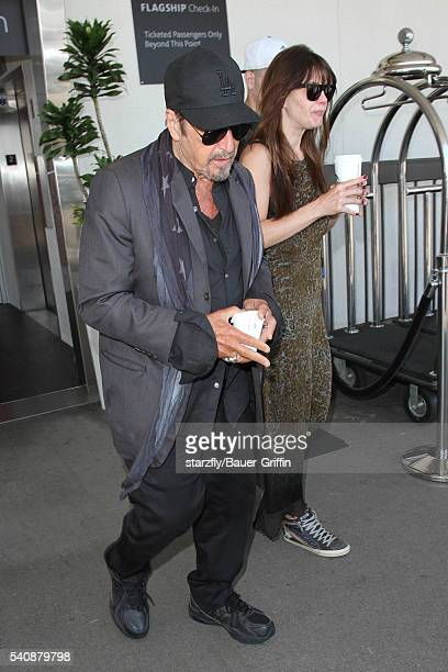 Al Pacino and Lucila Sola is seen at LAX on June 16 2016 in Los Angeles California