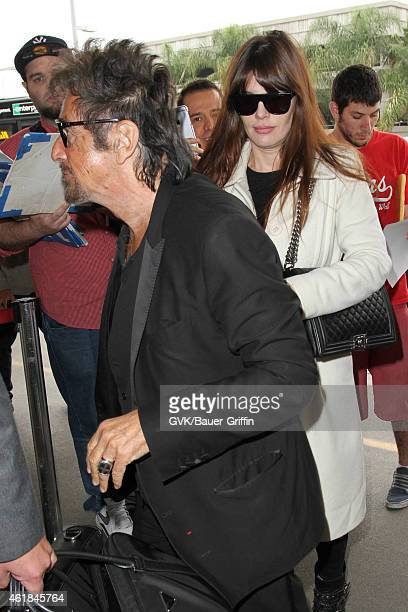 Al Pacino and Lucila Sola seen at LAX on January 20 2015 in Los Angeles California