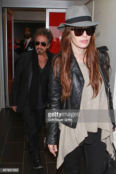 Al Pacino and Lucila Sola seen at LAX on October 21 2014 in Los Angeles California