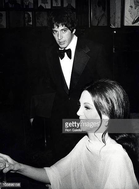 Al Pacino and Marlo Thomas during 28th Annual Tony Awards After Party at Sardi's Restaurant in New York City New York United States