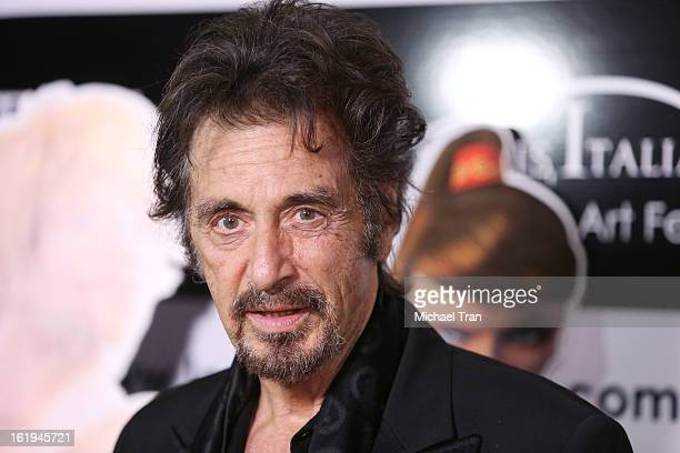 Al Pacino arrives at The 8th Annual Los Angeles Italia Film Fashion And Art Festival held at Chinese 6 Theatres on February 17 2013 in Hollywood...