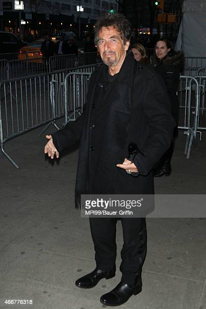 Al Pacino arriving to the Danny Collins film premiere on March 18 2015 in New York City