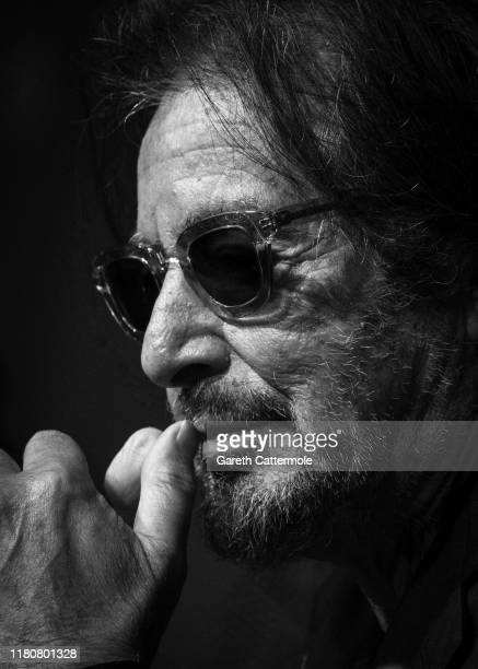 """Al Pacino at """"The Irishman"""" press conference during the 63rd BFI London Film Festival at The May Fair Hotel on October 13, 2019 in London, England."""