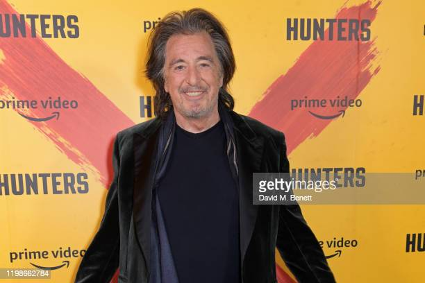 Al Pacino attends a screening and QA for Amazon Prime Video's upcoming Original series Hunters at Curzon Soho on February 4 2020 in London England