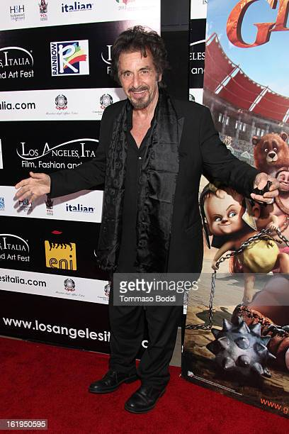 Al Pacino attends the 8th annual Los Angeles Italia Film Fashion and Art Festival opening night ceremony held at Mann Chinese 6 on February 17 2013...