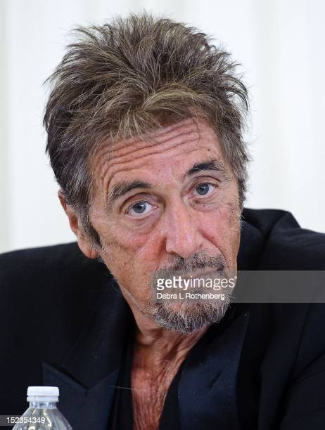 Al Pacino attends the Glengarry Glen Ross Broadway cast photo call at Ballet Hispanico on September 19 2012 in New York City
