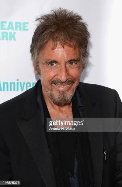 Al Pacino attends the Public Theater 50th Anniversary Gala at Delacorte Theater on June 18, 2012 in New York City.