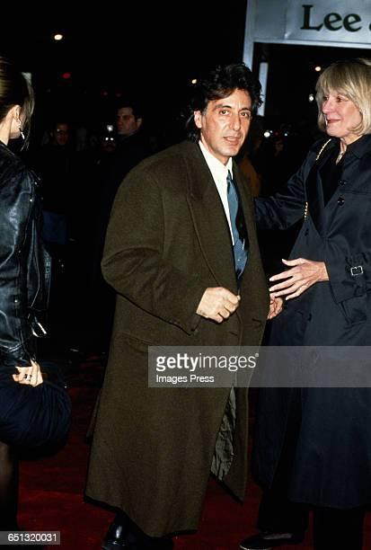 Al Pacino attends the 'Scent of a Woman' Premiere circa 1992 in New York City