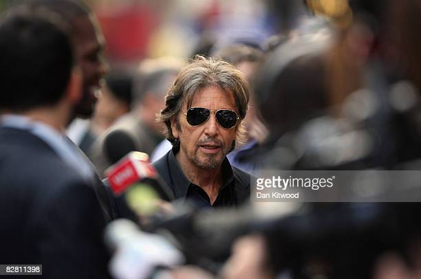 Al Pacino attends the UK Premiere of Righteous Kill held at the Empire Cinema in Leicester Square on September 14 2008 in London England