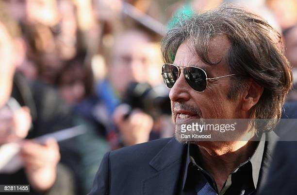 Al Pacino attends the UK Premiere of 'Righteous Kill' held at the Empire Cinema in Leicester Square on September 14 2008 in London England