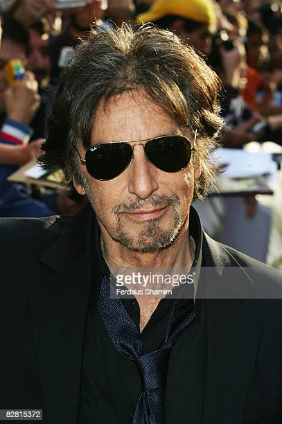 Al Pacino attends the UK Premiere of 'Righteous Kill' held at the Empire Leicester Square on September 14 2008 in London England