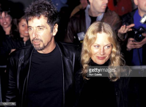 Al Pacino Beverly D'Angelo at the premiere of 'The Insider'