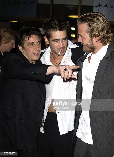 Al Pacino Colin Farrell and Gabriel Macht during The Recruit Premiere at Cinerama Dome in Hollywood CA