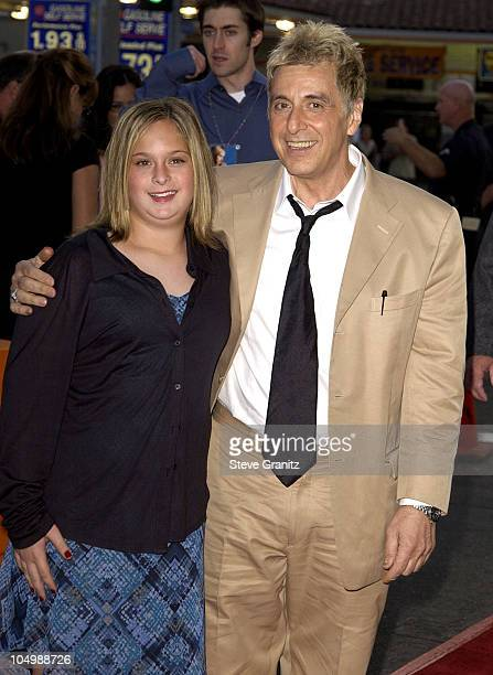 Al Pacino daughter Julie during 'Simone' Los Angeles Premiere at National Theatre in Westwood California United States
