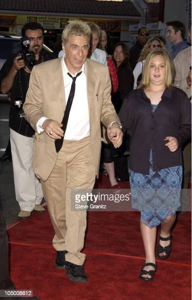 Al Pacino daughter Julie during Simone Los Angeles Premiere at National Theatre in Westwood California United States