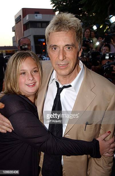 Al Pacino daughter Julie Marie Pacino during Simone Premiere at National Theatre in Westwood California United States