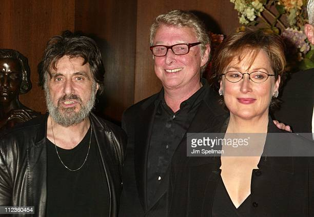 Al Pacino Director Mike Nichols and Meryl Streep during 'Angels in America' New York Screening at Ziegfeld Theater in New York City New York United...