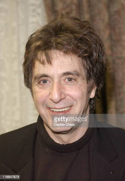 Al Pacino during 2003 Sundance Film Festival 'People I Know' Press Conference at Yarrow in Park City Utah United States