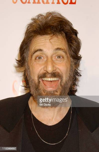 Al Pacino during 20th Anniversary Celebration of Scarface Outside Arrivals at City Cinema Theater in New York NY United States