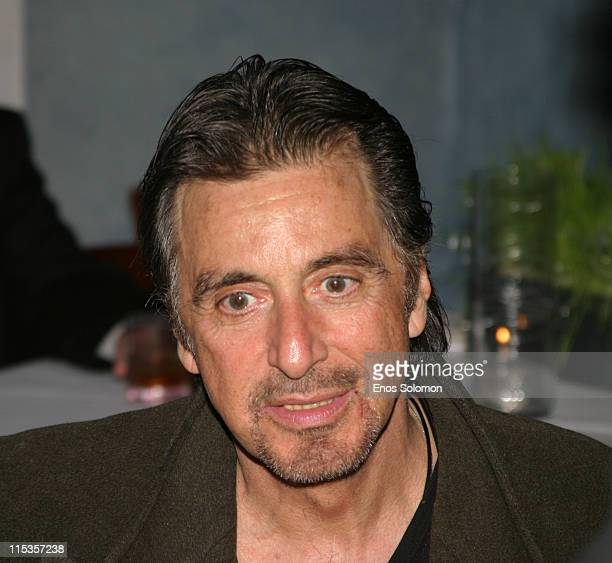 Al Pacino during 3rd Annual Celebration of Artistic Freedom Oscar Gala Inside at Ago in Beverly Hills California United States