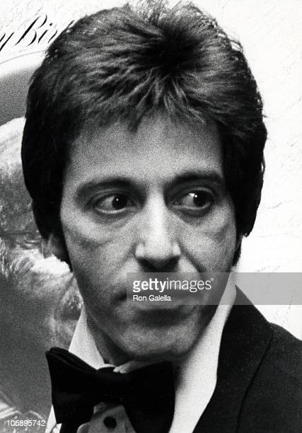 Al Pacino during Actors Studio's 75th Birthday Party For Lee Strasberg at Pierre Hotel in New York City New York United States