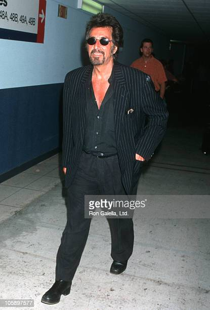 Al Pacino during Al Pacino Arriving From NY May 22 1999 at Los Angeles International Airport in Los Angeles California United States