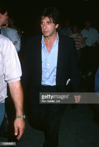 Al Pacino during Al Pacino on Location for 'Sea of Love' September 10 1988 at O'Neal's Restaurant in New York City New York United States