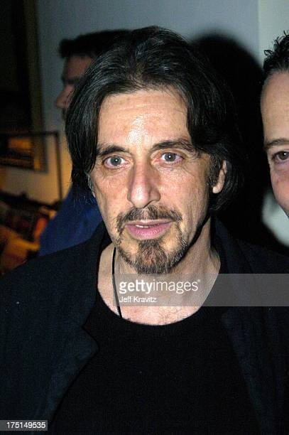 Al Pacino during HBO Films Pre Golden Globes Party Inside Coverage at Chateau Marmont in Los Angeles California United States