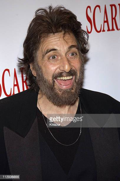 Al Pacino during Scarface 20th Anniversary Rerelease Celebration at City Cinemas Theatres in New York City New York United States