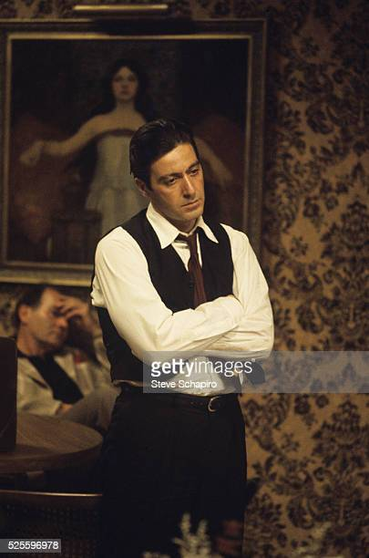 Al Pacino during the filiming of the Godfather Part II