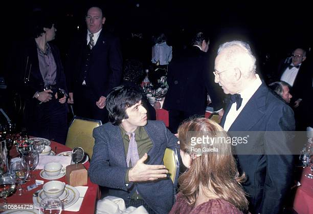 Al Pacino Ellen Burstyn and Lee Strasberg during 1st Annual Actors Studio Awards at Waldorf Hotel in New York City NY United States