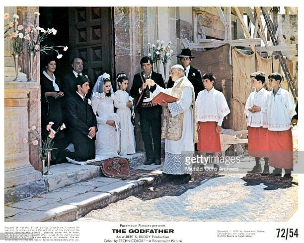 Al Pacino getting married in a scene from the film 'The Godfather' 1972