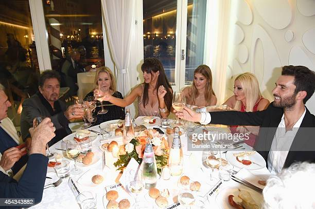 Al Pacino guest Lucila Sola guest Monika Bacardi and Andrea Iervolino attend the Exclusive Dinner hosted by Andrea Iervolino and Monika Bacardi...