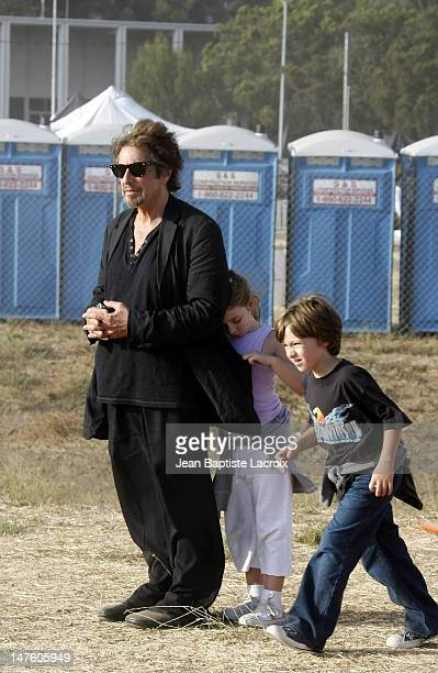 Al Pacino his daughter Olivia Rose and his son Anton James are seen at the Malibu Fair on August 31 2008 in Malibu California