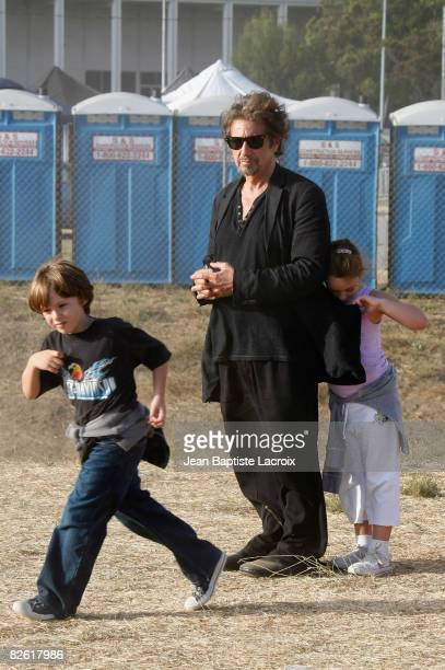 Al Pacino his son Anton James and his daughter Olivia Rose are seen at the Malibu Fair on August 31 2008 in Malibu California