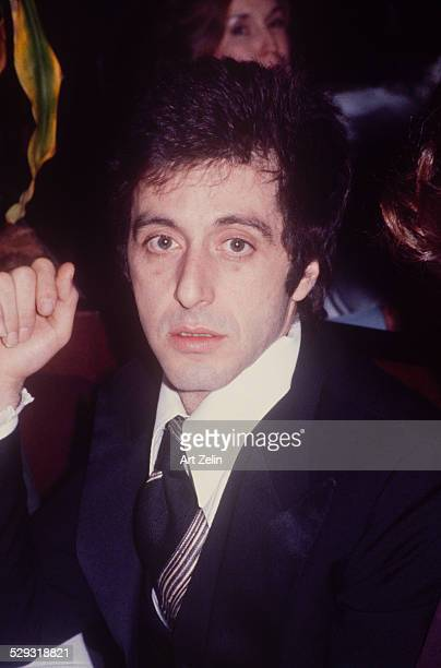 Al Pacino in a tux with a tie closeup circa 1970 New York