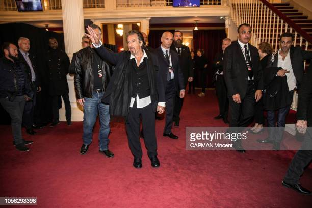 Al Pacino is photographed for Paris Match playing at the Theatre de Paris on October 22 2018 in Paris France