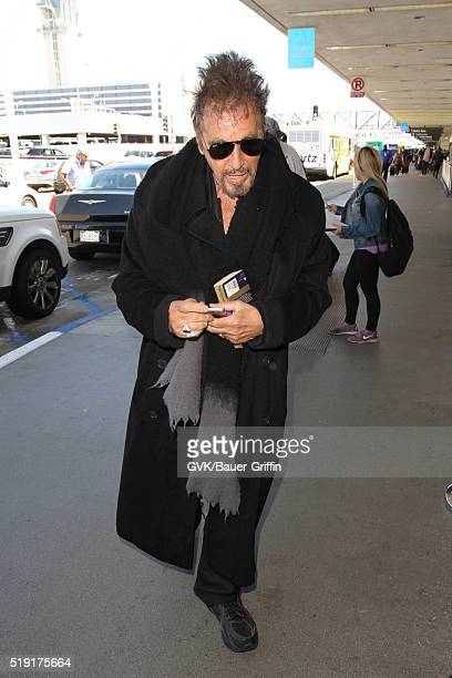 Al Pacino is seen at LAX on April 04 2016 in Los Angeles California