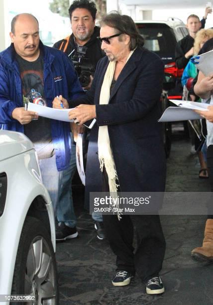 Al Pacino is seen on December 14 2018 in Los Angeles CA