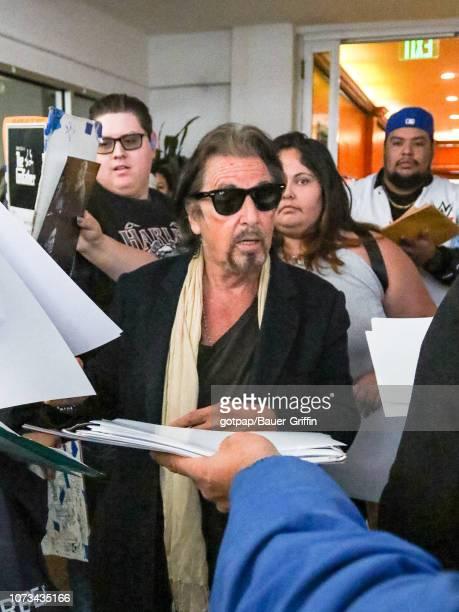 Al Pacino is seen on December 14 2018 in Los Angeles California