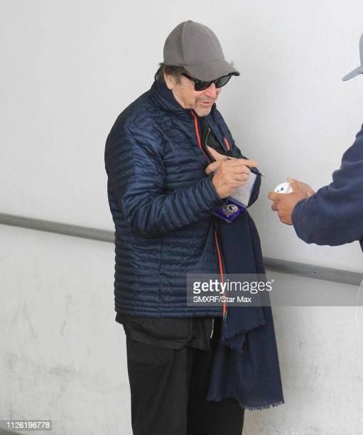 Al Pacino is seen on February 19 2019 in Los Angeles California