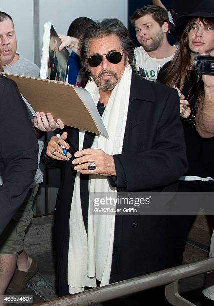 Al Pacino is seen on January 18 2014 in Los Angeles California