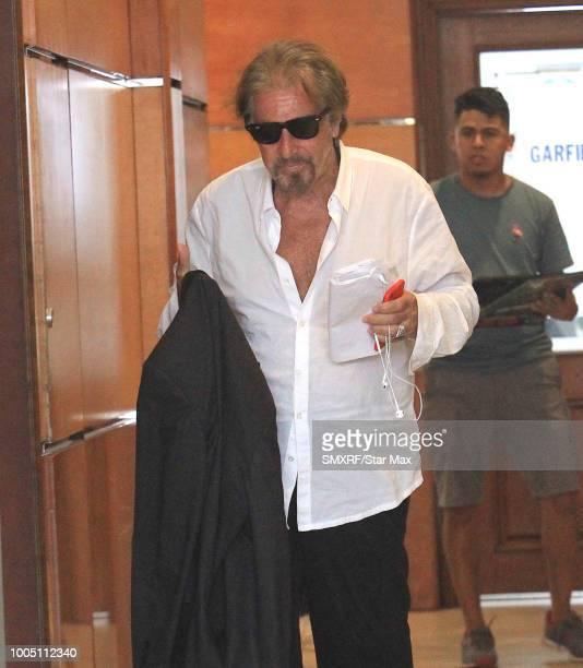 Al Pacino is seen on July 24 2018 in Los Angeles CA