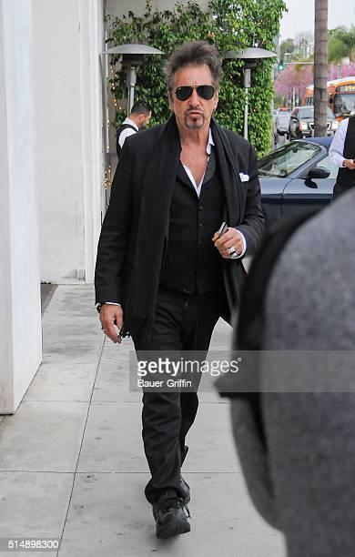 Al Pacino is seen on March 11 2016 in Los Angeles California